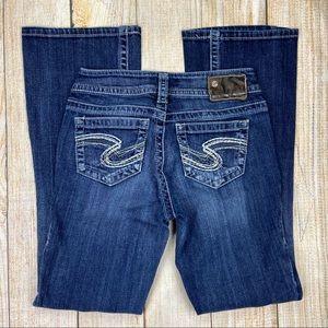 SILVER JEANS Blue Suki Bootcut Denim Jeans
